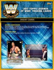 2017 Topps WWE Legends Wrestling Hobby Box Topps | Cardboard Memories Inc.