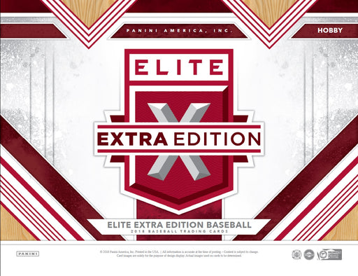 2018 Panini Elite Edition Baseball Hobby Box