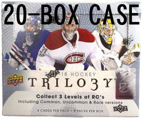 2017-18 Upper Deck Trilogy Hockey Hobby 20-Box Master Case Upper Deck | Cardboard Memories Inc.