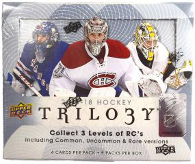 2017-18 Upper Deck Trilogy Hockey Hobby Box Upper Deck | Cardboard Memories Inc.