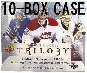 2017-18 Upper Deck Trilogy Hockey Hobby 10-Box Inner Case Upper Deck | Cardboard Memories Inc.