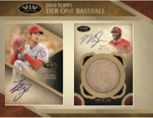 2019 Topps Tier One Baseball Hobby Box (Pre-Order May 15th, 2019)