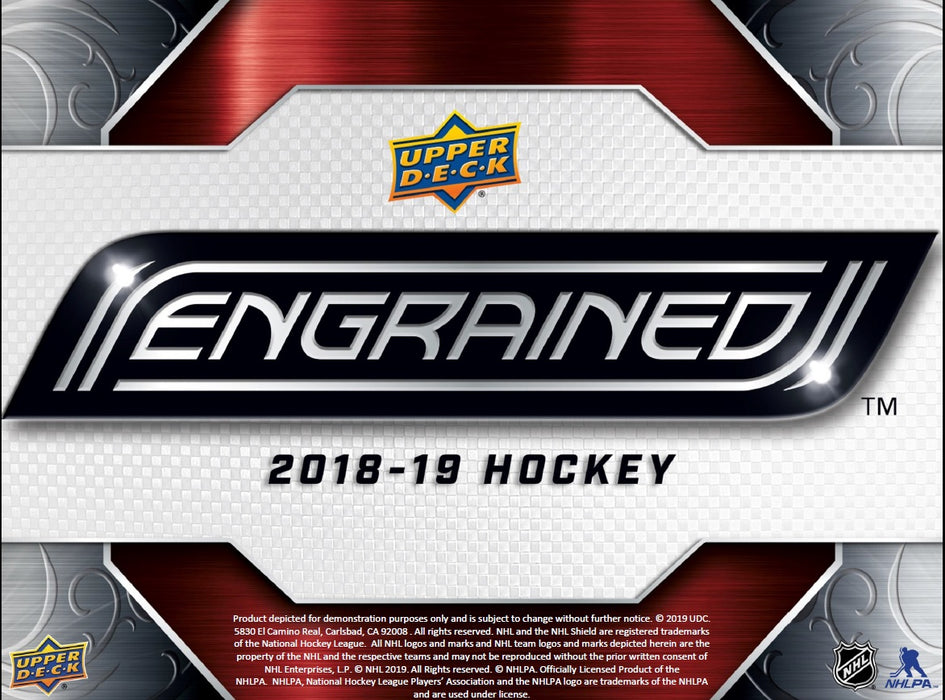 2018-19 Upper Deck Engrained Hockey 10 Box Case (Pre-Order May 29th, 2019)