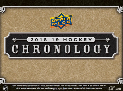 2018-19 Upper Deck Chronology Hockey Volume 1 Hobby Box (Pre-Order May 22nd, 2019)
