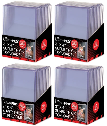Ultra Pro Top Loaders - 3x4 Super Thick 260pt (4-Pack Combo) Ultra Pro | Cardboard Memories Inc.