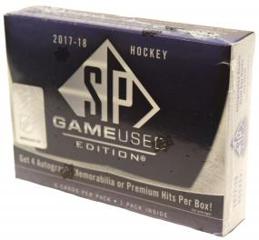 2017-18 Upper Deck SP Game Used Hockey Hobby Box Upper Deck | Cardboard Memories Inc.