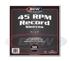 BCW 45 RPM Record Sleeves BCW | Cardboard Memories Inc.