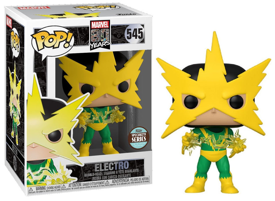 POP! - Marvel - Electro - First Appearance 80th