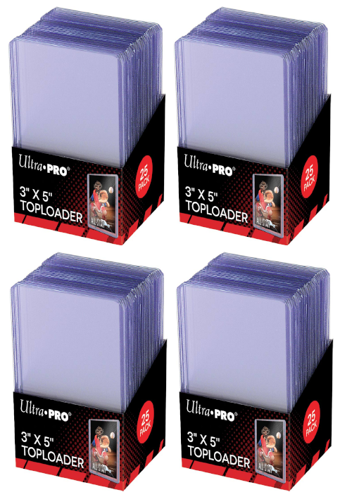Ultra Pro Top Loaders - 3x5 (4-Pack Combo) Ultra Pro | Cardboard Memories Inc.