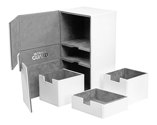 Ultimate Guard - Twin Flip N Tray Deck Case - White Xenoskin - 200