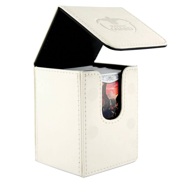 Ultimate Guard Flip Deck Case - White Leather (100+)