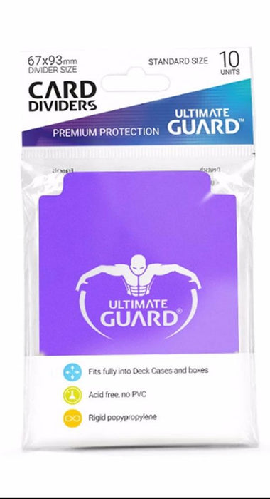 Ultimate Guard Card Dividers - Purple Ultimate Guard | Cardboard Memories Inc.