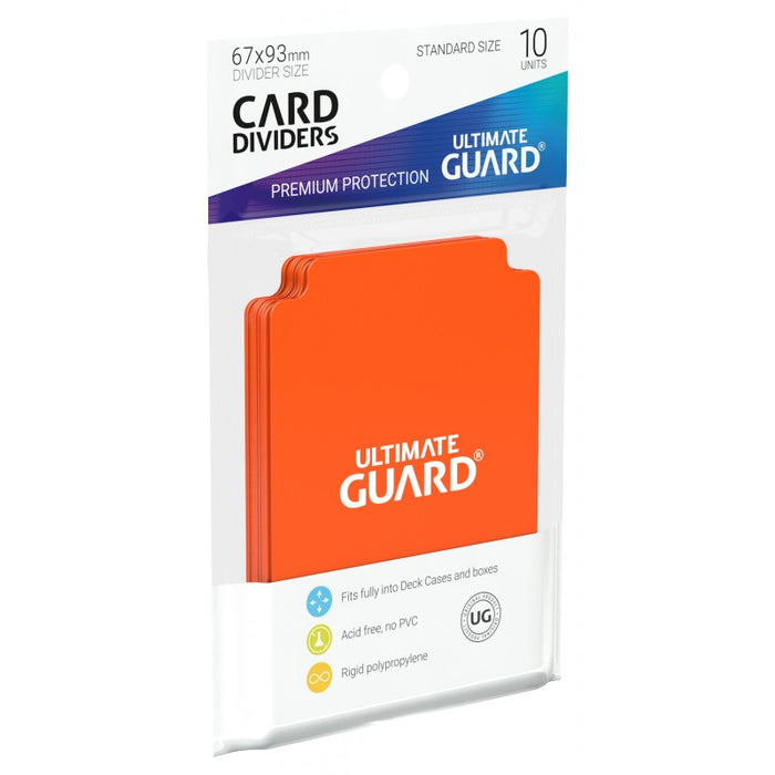 Ultimate Guard Card Dividers - Orange Ultimate Guard | Cardboard Memories Inc.