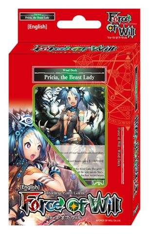 Force of Will - Wind Deck - Pricia, the Beast Lady Force of Will | Cardboard Memories Inc.