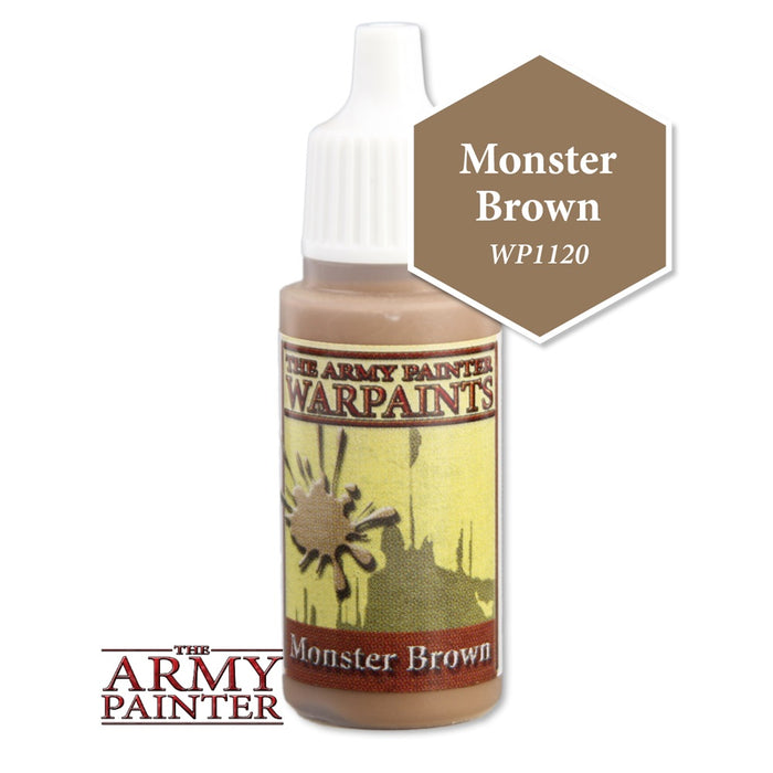 Army Painter Warpaints - Monster Brown WP1120 The Army Painter | Cardboard Memories Inc.