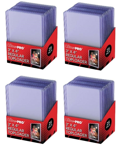 Ultra Pro Top Loaders - 3x4 Regular (4-Pack Combo) Ultra Pro | Cardboard Memories Inc.