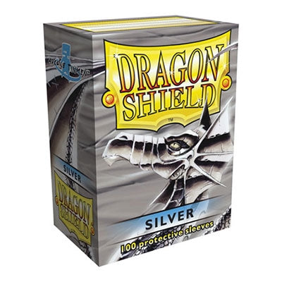 Dragon Shield Sleeves - Silver Arcane Tinmen | Cardboard Memories Inc.