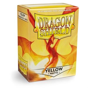Dragon Shield Sleeves - Matte Yellow Arcane Tinmen | Cardboard Memories Inc.