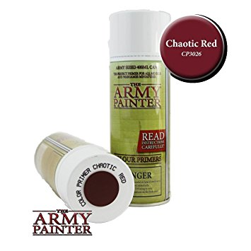 Army Painter - Colour Primer Chaotic Red The Army Painter | Cardboard Memories Inc.