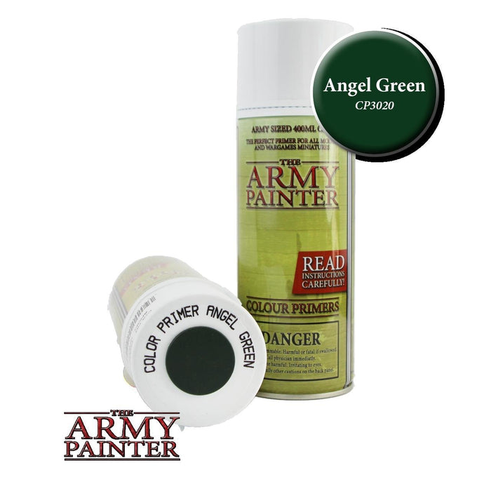 Army Painter - Colour Primer Angel Green Paint Spray The Army Painter | Cardboard Memories Inc.