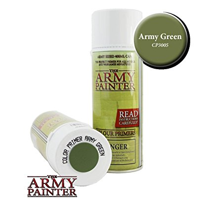 Army Painter - Colour Primer Army Green Paint Spray The Army Painter | Cardboard Memories Inc.