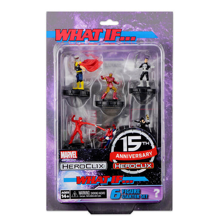Marvel HeroClix - What if...? 15th Anniversary - 6 Figure Starter Set Wizkids | Cardboard Memories Inc.