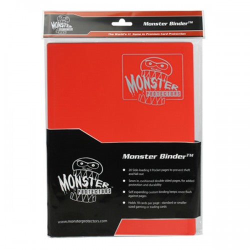 Monster Binder - Red (9 Pocket) Monster | Cardboard Memories Inc.