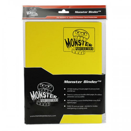 Monster Binder - Yellow (9 Pocket) Monster | Cardboard Memories Inc.