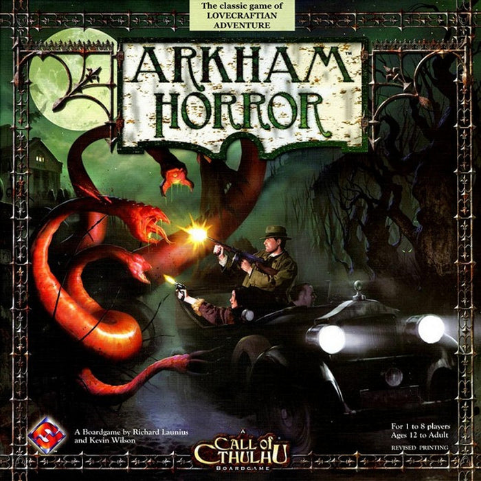 Arkham Horror Board Game Fantasy Flight Games | Cardboard Memories Inc.