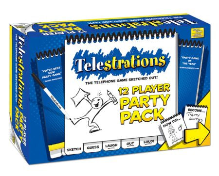 Telestrations - 12 Player Party Pack Usaopoly | Cardboard Memories Inc.