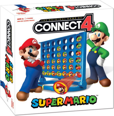Connect 4 - Super Mario Usaopoly | Cardboard Memories Inc.