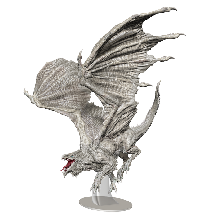 Wizkids - Dungeons and Dragons - Unpainted Miniature - Nolzurs Marvellous Miniatures - Adult White Dragon - 90325 - Pre-Order TBA 2021