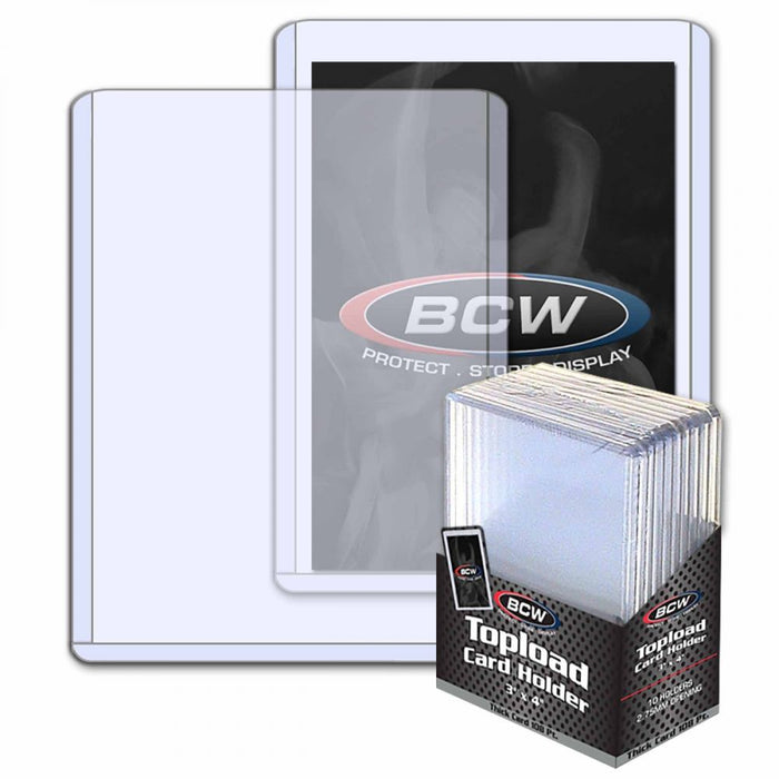 BCW - Top Loaders - 3x4 Thick 108pt Pack