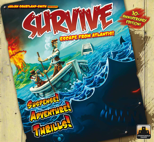 Survive - Escape From Atlantis! - Board Game 30th Anniversary Edition Stronghold Games | Cardboard Memories Inc.