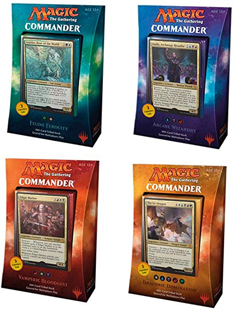 Magic The Gathering - 2017 Commander Deck - Set of Four