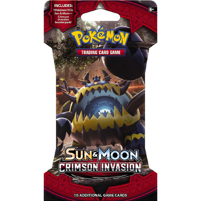 Pokemon Sun & Moon - Crimson Invasion Blister Pack Pokemon | Cardboard Memories Inc.