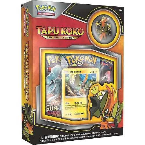 Pokemon Tapu Koko Pin Collection Box Pokemon | Cardboard Memories Inc.