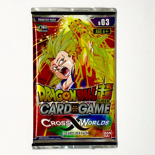 Dragon Ball Super - Cross Worlds Booster Pack Bandai | Cardboard Memories Inc.
