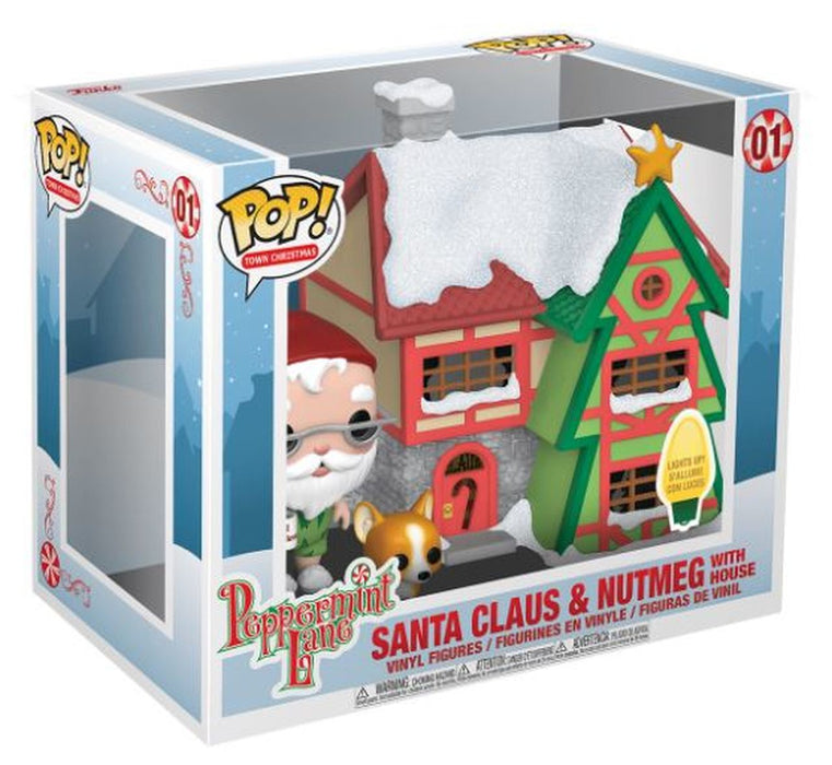 POP! - Peppermint Lane - Santa Claus and Nutmeg With House