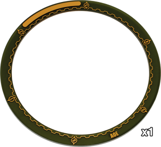 Warmachine - 5-Inch Area of Effect Ring Marker - PIP 91081 Privateer Press | Cardboard Memories Inc.