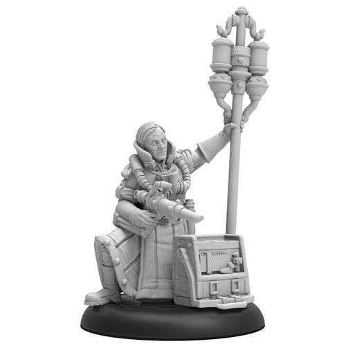 Privateer Press - Warmachine - Crucible Guard - Doctor Adolpheus Morely Command Attachment - PIP 37006