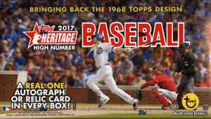 2017 Topps Heritage High Number Baseball Hobby Box Topps | Cardboard Memories Inc.