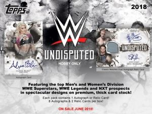 2018 Topps WWE Undisputed Wrestling Hobby Case (8)