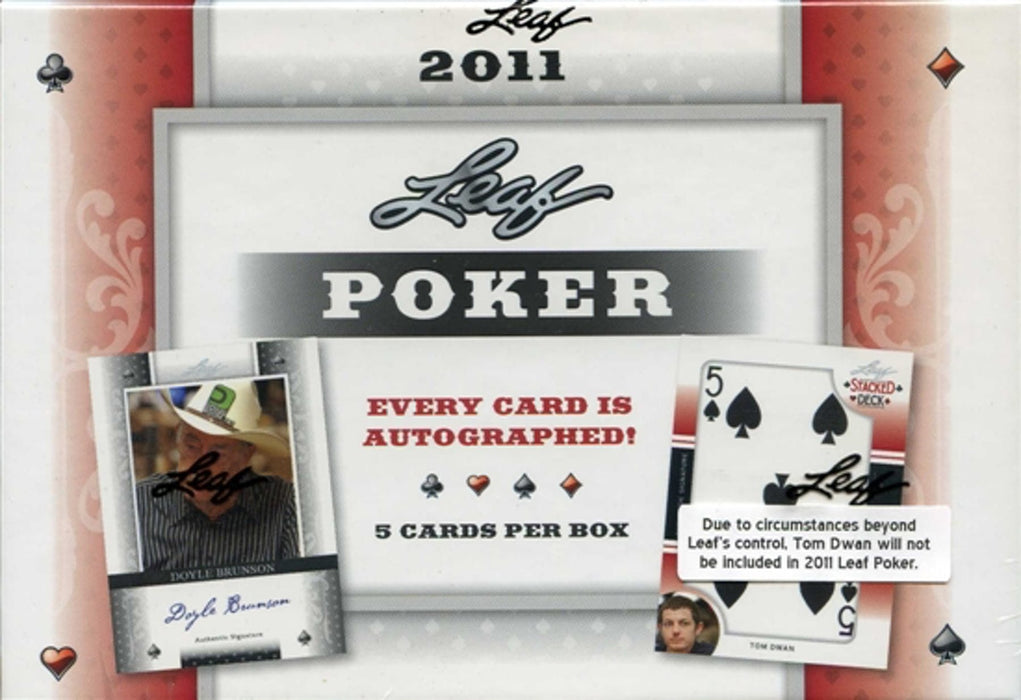 2011 Leaf Poker Hobby Box