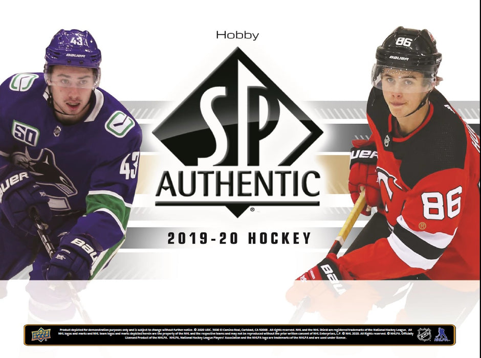 Upper Deck - 2019-20 - Hockey - SP Authentic - Hobby Box - 8 Box Inner case - Pre-Order June 3rd 2020