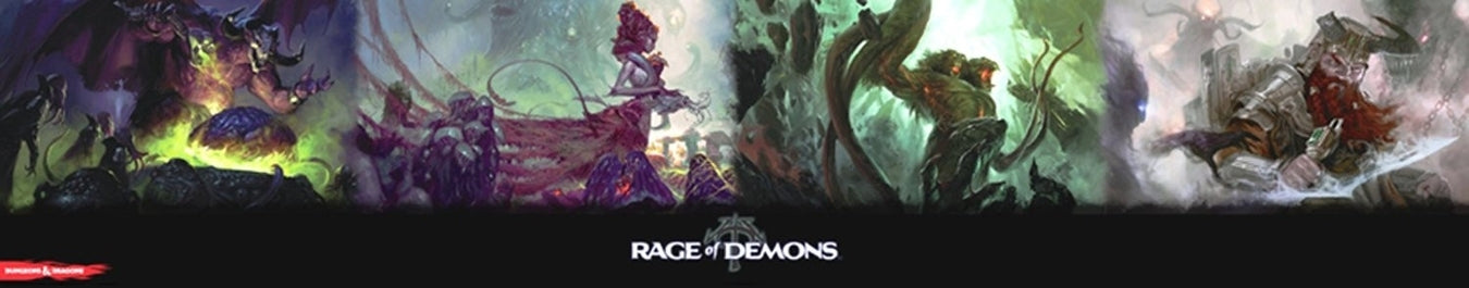 Dungeons & Dragons - Rage of Demons Dungeon Master's Screen Wizards of the Coast | Cardboard Memories Inc.