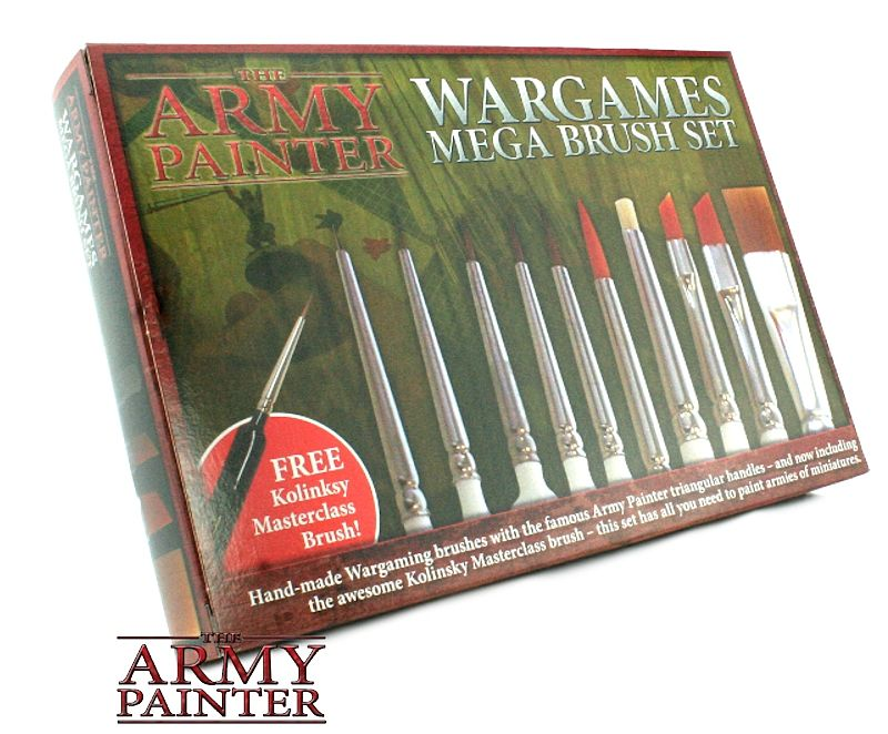 Army Painter - Wargames Mega Brush Set The Army Painter | Cardboard Memories Inc.
