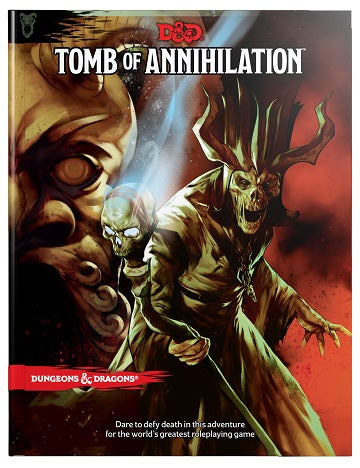Dungoens & Dragons Tomb of Annihilation - Hardcover Wizards of the Coast | Cardboard Memories Inc.