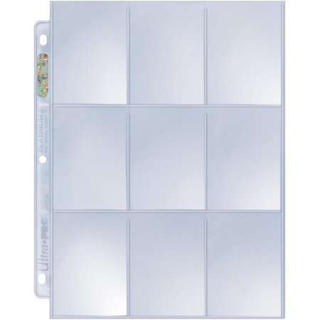Ultra Pro 9 Pocket Binder Pages (3-Page Combo) Ultra Pro | Cardboard Memories Inc.