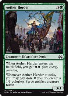 Aether Herder - Common  AER051 Wizards Of the Coast | Cardboard Memories Inc.